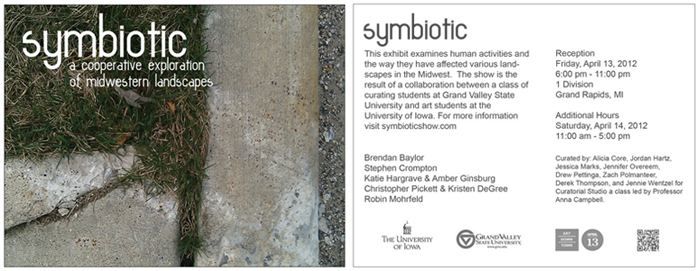 Symbiotic exhibition postcard