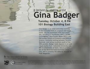 Gina Badger Poster