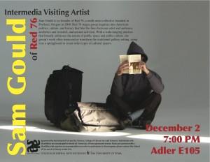 Poster for visiting artist Sam Gould